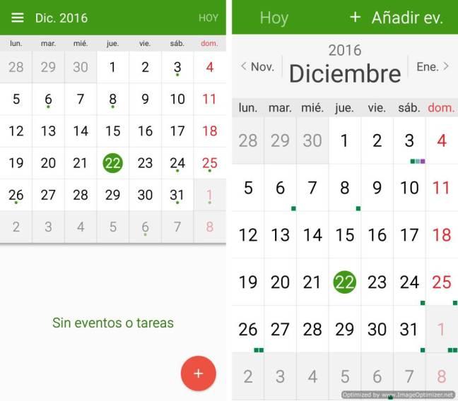 Calendario, estándar y sencillo