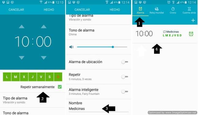 Alerta medicinas Android